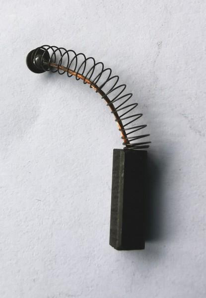 Kohlebürste 4x4x12,5mm mit Kabel, Feder und Teller