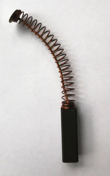 Kohlebürste 6x6x20mm mit Kabel, Feder und Teller