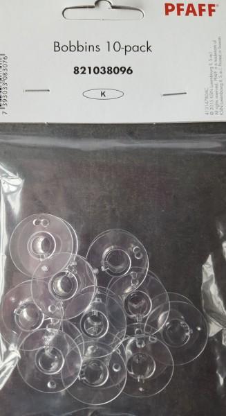 Kunststoff-Spulen Pfaff, transparent K